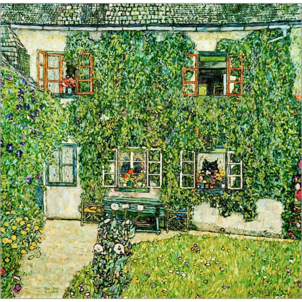 Handmade Gustav Klimt Paisagens Forsthaus em Weissenbach am Attersee pinturas a óleo de arte sobre tela para decoração viva