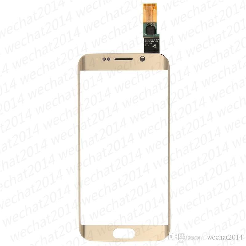 Parte anteriore di ricambio del convertitore analogico / digitale dello schermo di tocco del pannello di tocco di vetro di 30PCS per il bordo G925F G925 di Samsung Galaxy S6 DHL libero