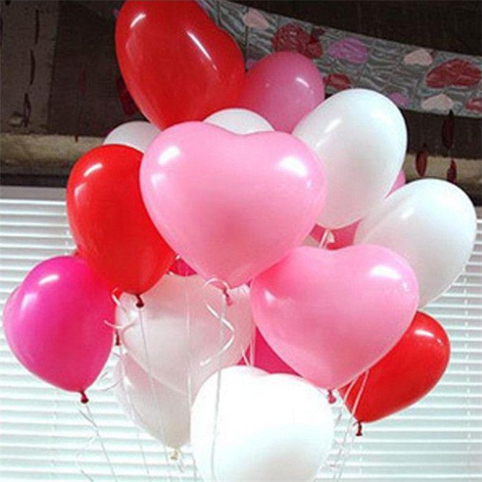12 بوصة 2.2 جرام الأحمر الحب القلب بالونات اللاتكس الزفاف الديكور عيد الحب عيد ميلاد الحزب بالونات مصنع بالجملة