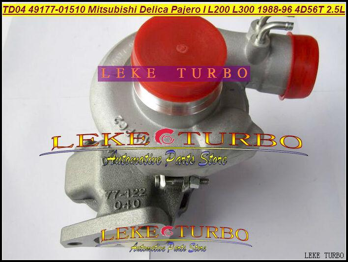 NEW TD04-09B 49177-01510 49177-01511 Oil cooled Turbo Turbocharger For Mitsubishi Delica Pajero I L200 L300 1988-1996 4D56T 2.5L (4)