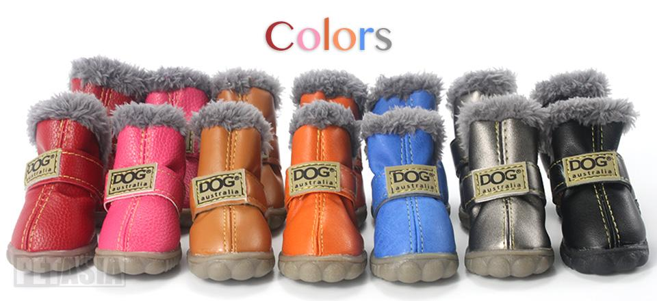 PETASIA Pet Dog Shoes Winter 4pcs set Small Medium Dogs Boots Cotton Waterproof Anti Slip XS XL Shoes for Pet Product ChiHuaHua select_960px colors 01
