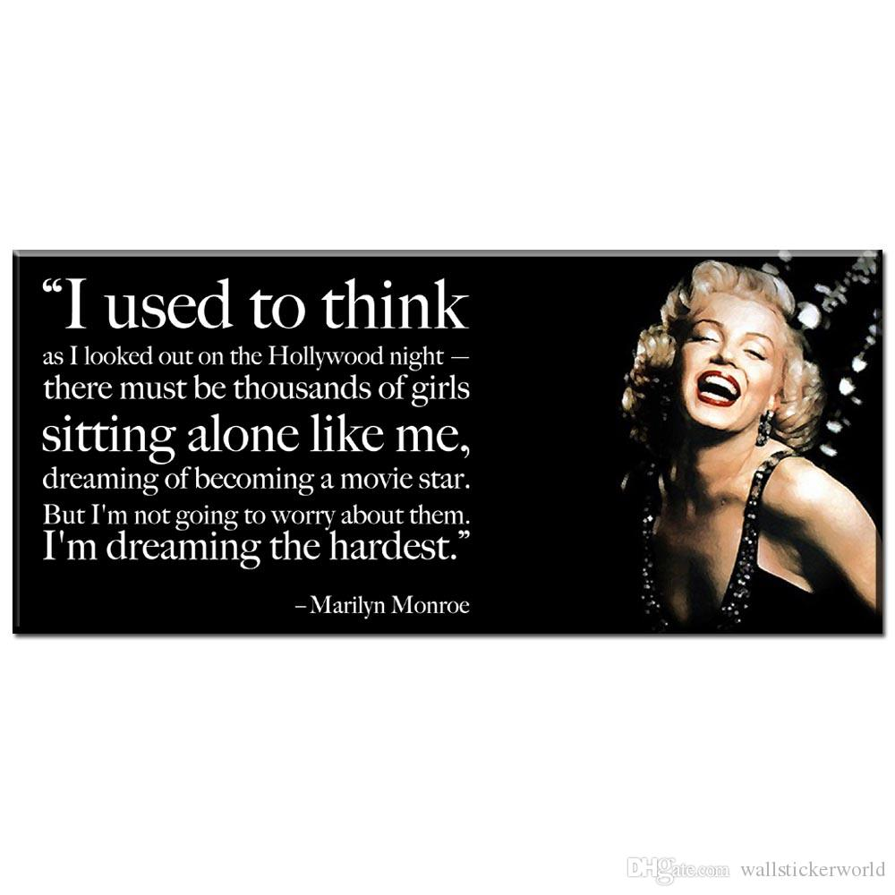 Marilyn Monroe Quote Decor Monroe Framed Canvas Original Decor Hollywood Quote