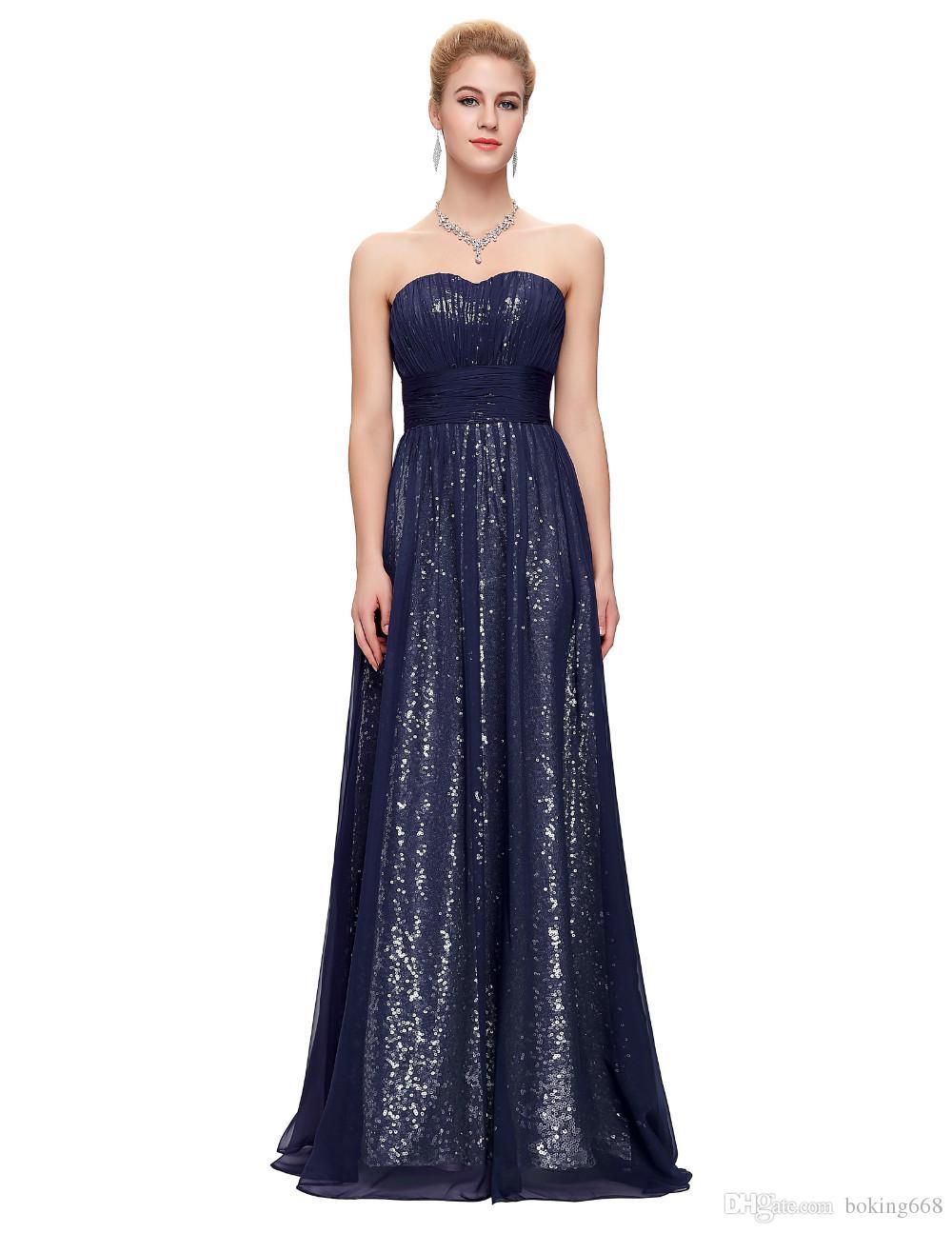 Großhandel Pailletten Formale Elegante Ballkleider 14 Neueste Junior  Abendkleider Lang Schatz Sleeveless Vestidos Abendkleid Robe De Soiree Von