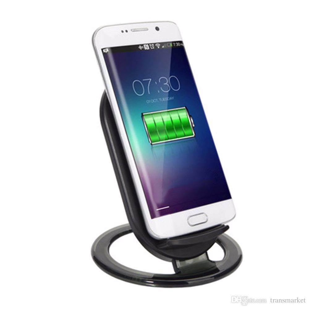 N900 9 V / 1.5A Wireless Szybka ładowarka Posiadacz z wskaźnikiem LED Light 2-COILS 15W Szybkie ładowanie Podkładka Stań DHL