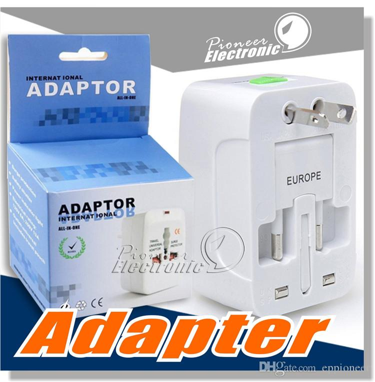 Travel universal wall charger power adapter for plug Surge Protector Universal International Travel Power Adapter Plug (US UK EU AU AC Plug)