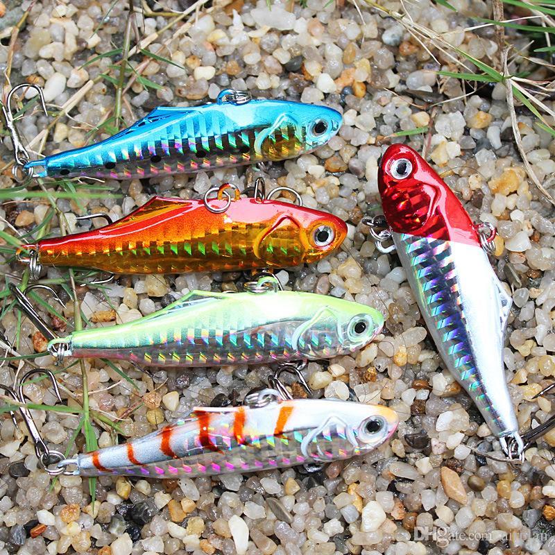 Wholesale Metal Spoon Fishing Lures Artificial Sinking Bait Wobbler Metal Jigging lures Hard Pesca Fishing Accessories Tackle Hooks