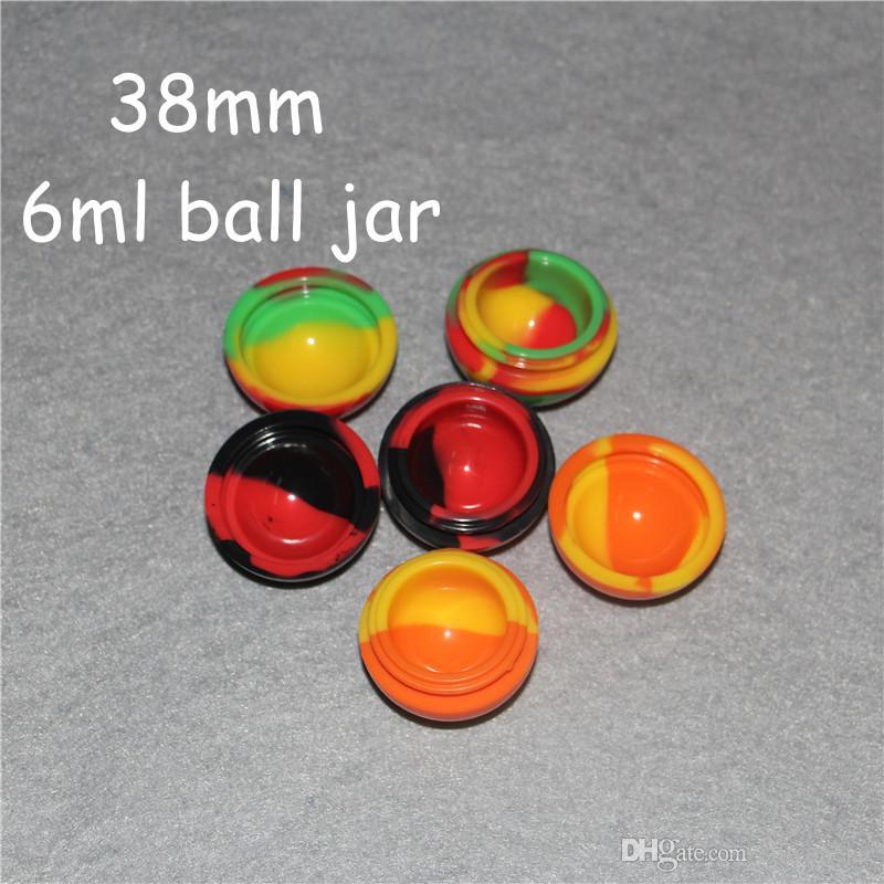 bola Hot forma de silicone frascos dab titular recipiente de cera 100% FDA Aprovado recipiente silicone Non-stick para o transporte livre