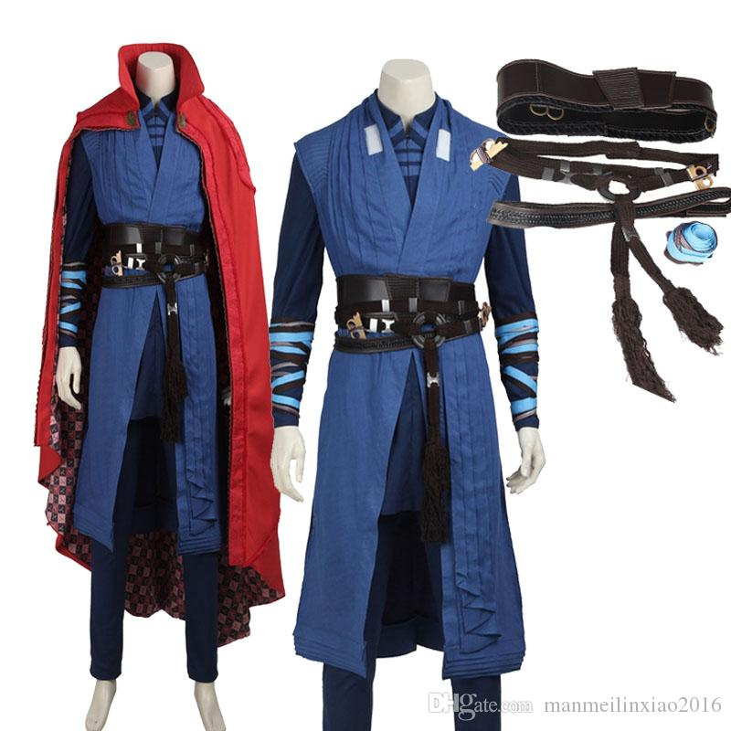 Original Doctor Strange Cosplay Costume Full Set Custom Made Outfit Halloween