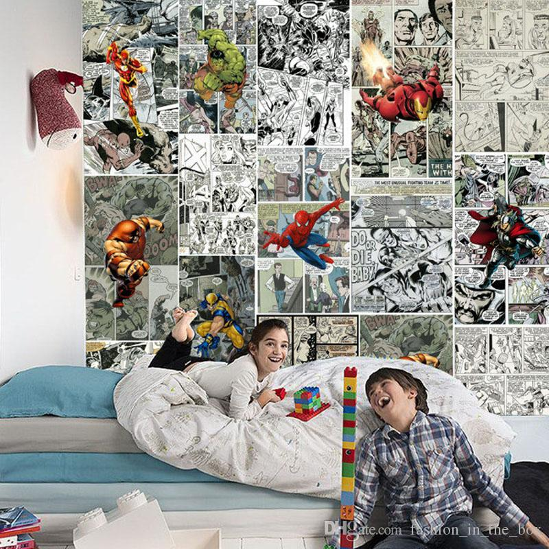 Marvel Comics Wallpaper Fototapete 3D Wallpaper für Wände Kinder Schlafzimmer Wohnzimmer Dekor TV Hintergrund Wandverkleidung Super Hero Wallpaper