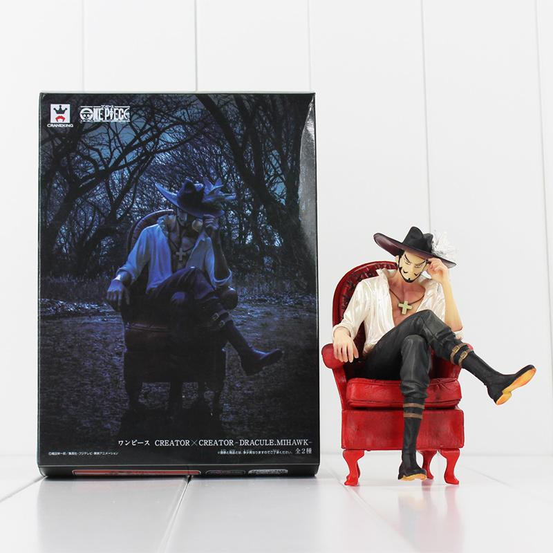 Anime One Piece Dracula Mihawk Seat on the Sofa PVC Action Figure Collectable Model Toy free shipping retail