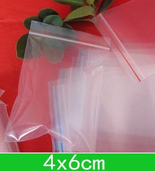 Nuovi sacchetti poli richiudibili del PE delle borse (4x6cm), borsa della chiusura lampo per trasporto + trasporto 1000pcs / lot all'ingrosso