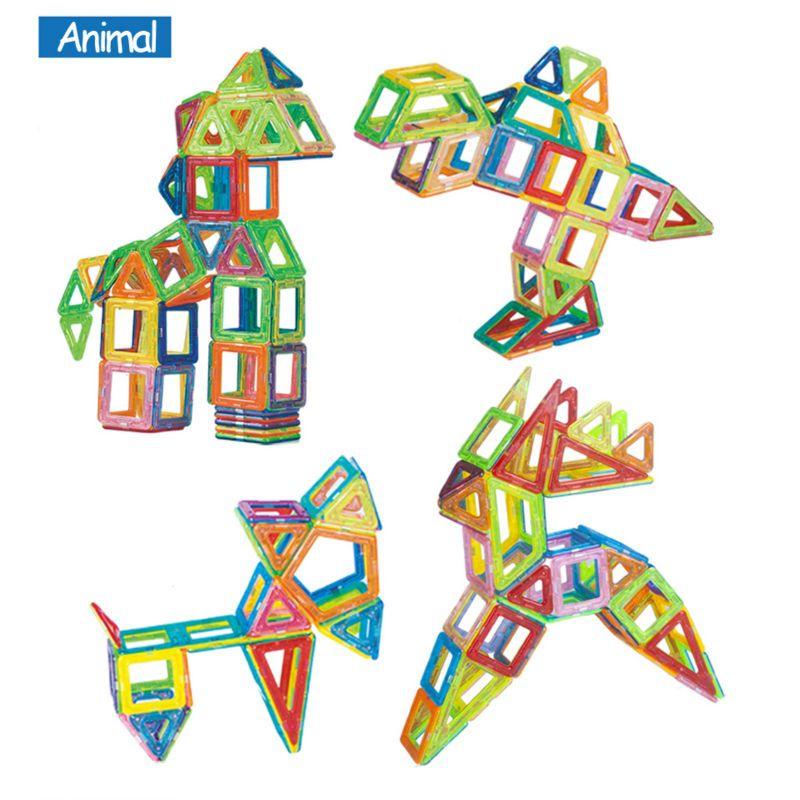 Blocks Mini 158pcs/lot Magnetic Construction Models Building Blocks Toys DIY 3D Magnetic Designer Learning Educational Bricks Kids Toys