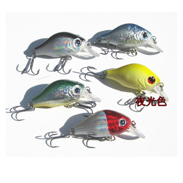Fishing Lure Crankbait Hard Lures Wobblers Day Night Fishing Glow in Dark For Bass 55mm/8g