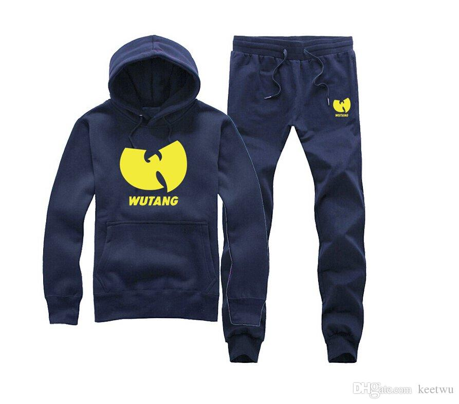 9007 kostenloser versand Wu Tang Trainingsanzüge Männer Frauen Hoody + pants Sweatshirts Oansatz Dick Hip Hop Streetwear Loose
