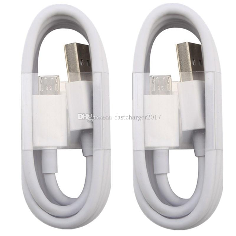 두꺼운 고속 충전기 케이블 1M 3FT 2A 마이크로 V8 5pin 유형 C 데이터 케이블 삼성 S6 S7 가장자리 안드로이드 폰용