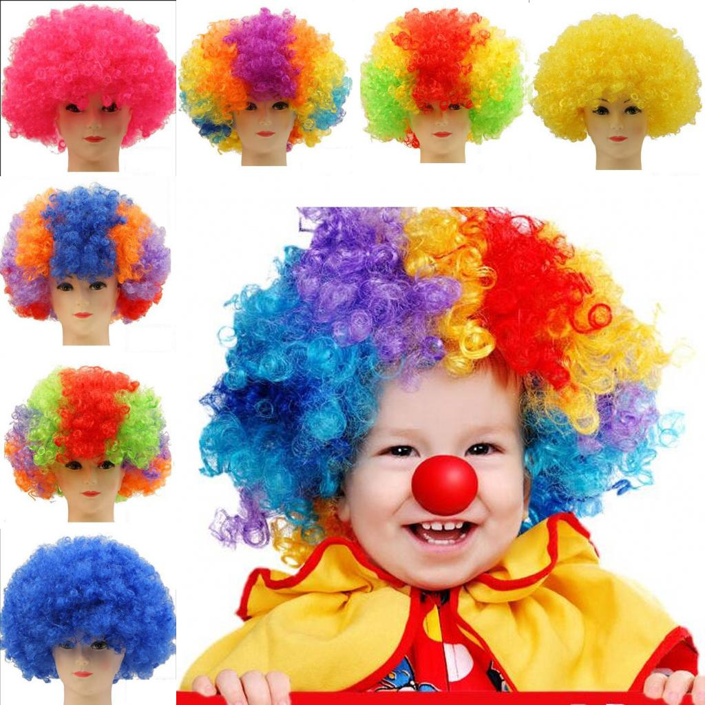 10pcs/lot Adult Children Party Color Wig Masquerade Cosplay Decoration Color Wig Bar Club Carnival Party Supplies