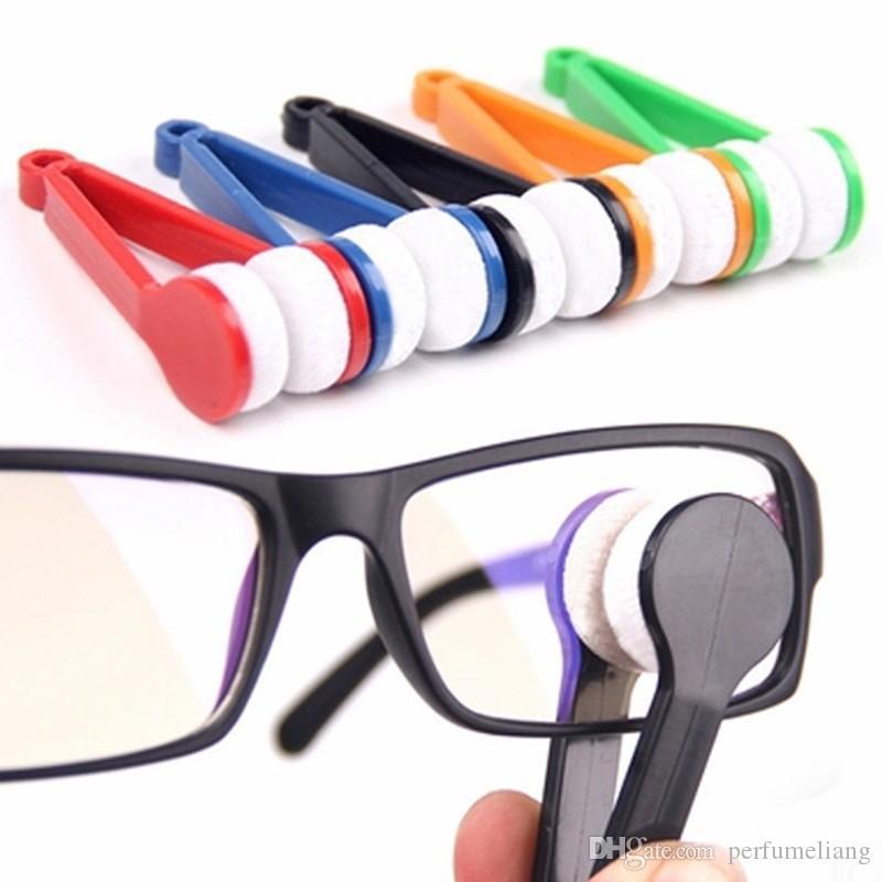300 stücke Neue Ankunft Augenglasreiniger Mikrofaser Reinigungsbürste Kunststoffgriff 7 cm x 2 cm x 2 cm Home Cleaning Tools Pinselreiniger ZA0797