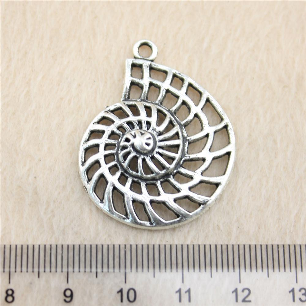 15pcs 35 * Charms ToneSwirl 27 millimetri d'argento antico in lega di zinco fai da te fatti dei monili dei pendenti all'ingrosso