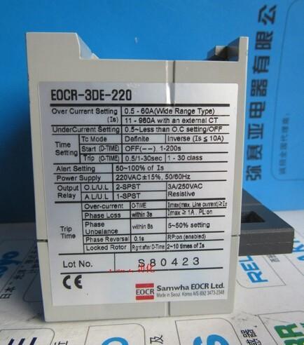 EOCR-3DE EOCR-3DE-220 Puissance nouvelle et originale