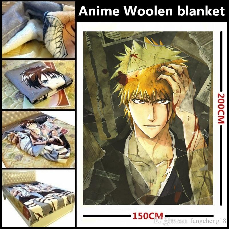 Anime/BLEACH Kurosaki Ichigo/Kon/Hitsugaya Toushirou/Kuchiki Rukia/Ulquiorra cifer Beautiful velveteen woolen blanket/bed linings