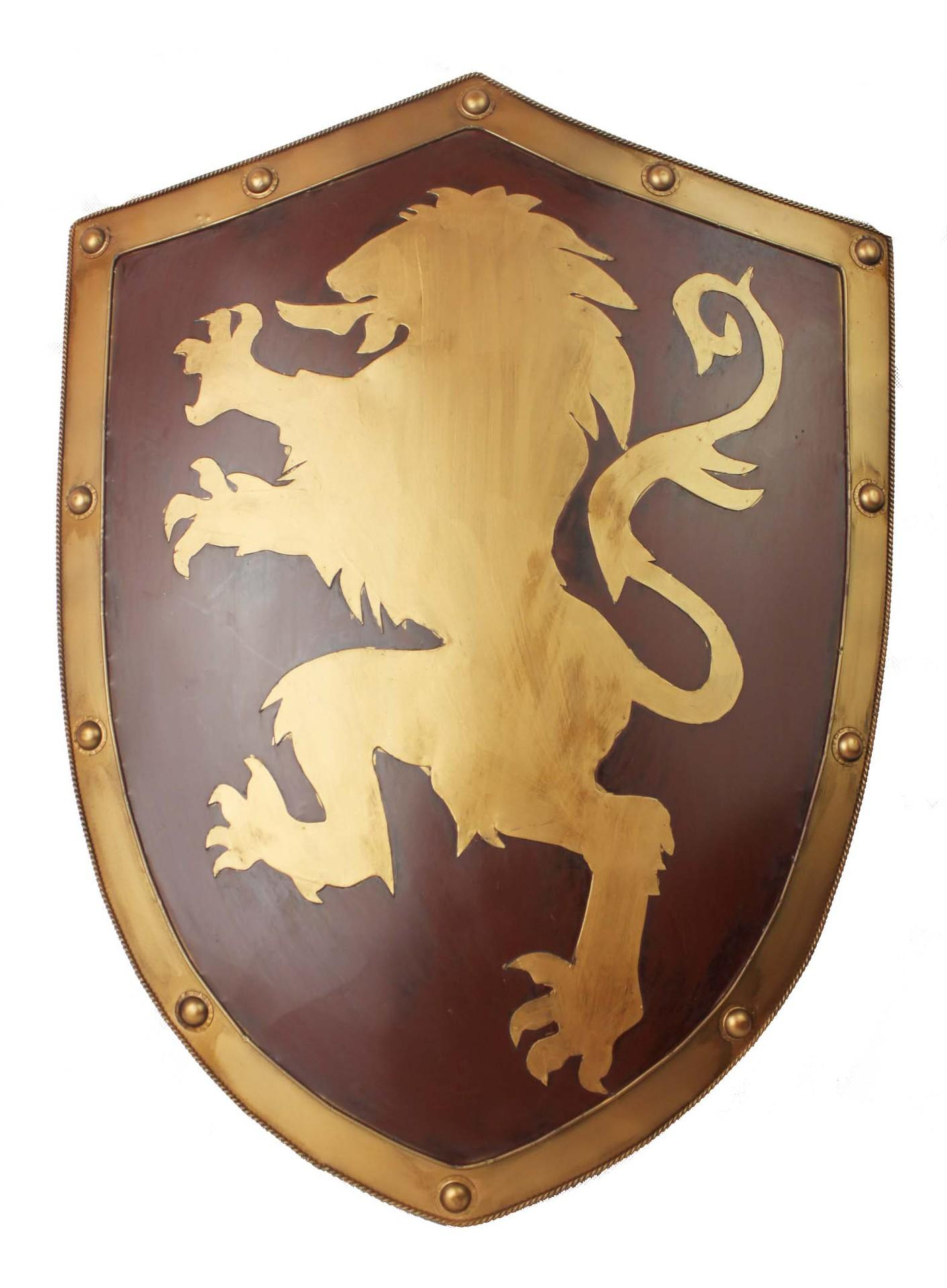 2018 Pure Manual Made Medieval Knight Shield, Lannister Lion Iron ...