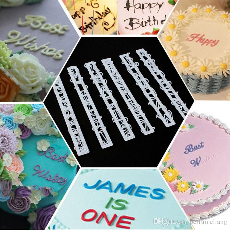 100Set 6Pcs/Set Alphabet Number Letter Impress Cookie Biscuit Stamp Embossing Cutter Cake Fondant DIY Mold Tool Sugarcraft Decorating ZA0490