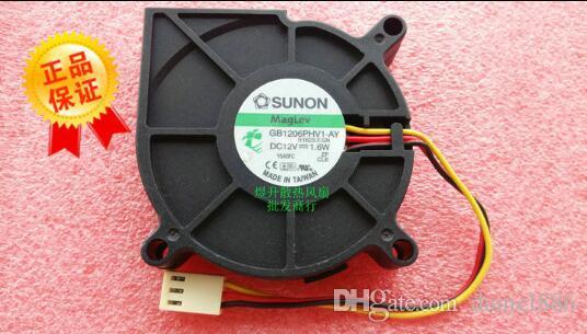 Original SUNON 6015 DC12V 1.6W 6cm GB1206PHV1 AY-3 línea turbo ventilador soplador