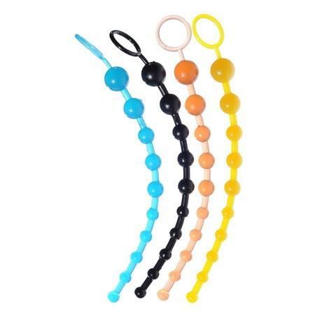 Perline anali a 13 pollici di gelatina anale perline anali per le perline a testa flessibile per adulti Massaggio anale Giocattoli anali per uomini e donne