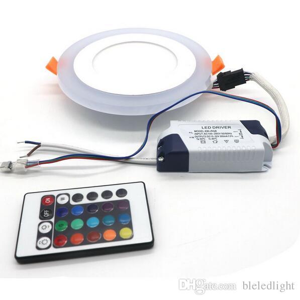 Super 6 W / 9 W / 16 W RGB LED Plafoniera AC85-265V 24 colori Downlight Lampadina con telecomando Spedizione gratuita