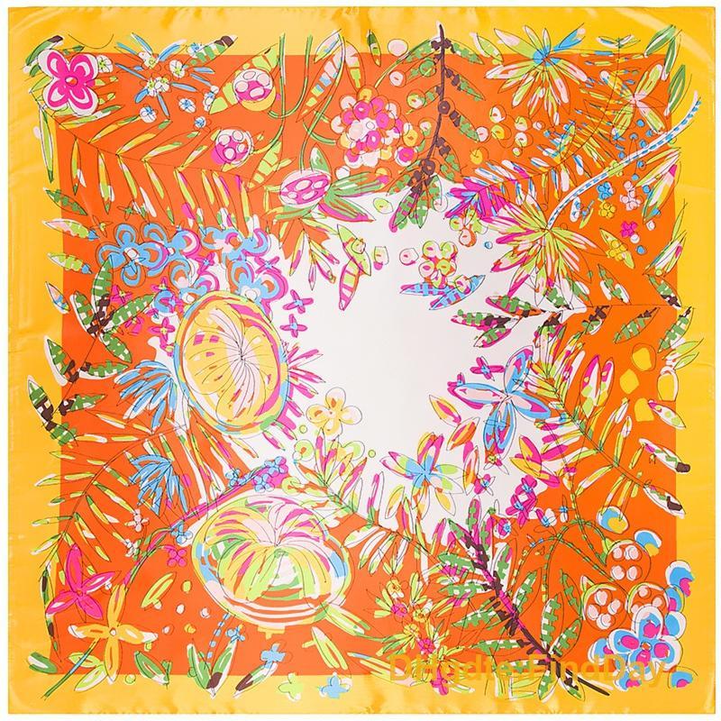 Sénior 90 cm * 90 cm lenço cachecol xale cachecóis floresta flor senhora