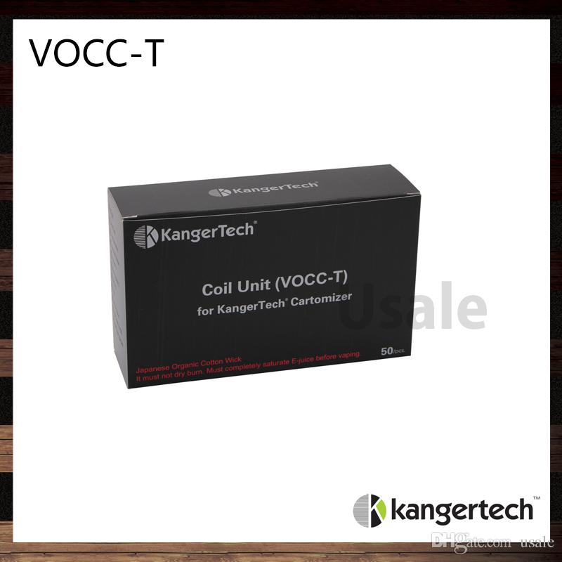 Kanger VOCC-T Bobin Ünitesi 1.2ohm 1.5ohm 1.8ohm VOCC-T Kangertech Toptank Evod Aerontank Protank 3 Toptank Bobinleri 100% Orijinal Emow