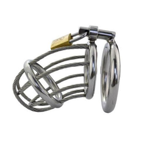 New Hot Mens Male Chastity Cage Device Belt Restraint Lock Bondage Gay B074 #R52