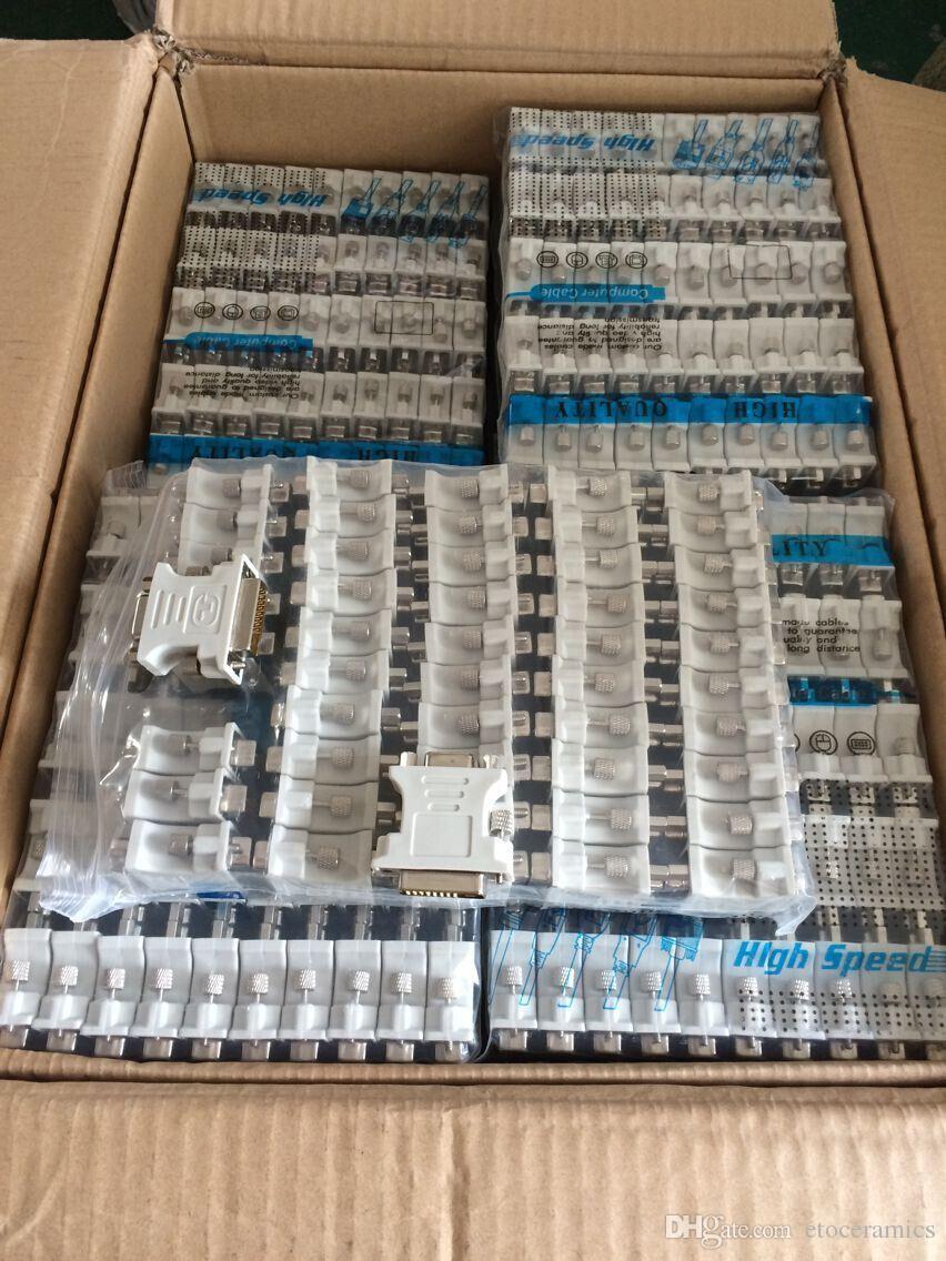 DVI 24 + 1 Macho a VGA adaptador femenino adaptador DVI-D DVI-I DVI-A DVI -D Macho a VGA Adaptadores Mujeres Convertidores Conectores Tornillos de metal