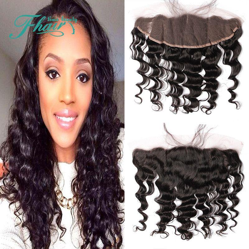 "7A Grade 100% Peruvian Human Hair,Ear To Ear Full Lace Frontal Closure Loose Wave 8""-24""Inch Length Hair Free Shipping DHL"