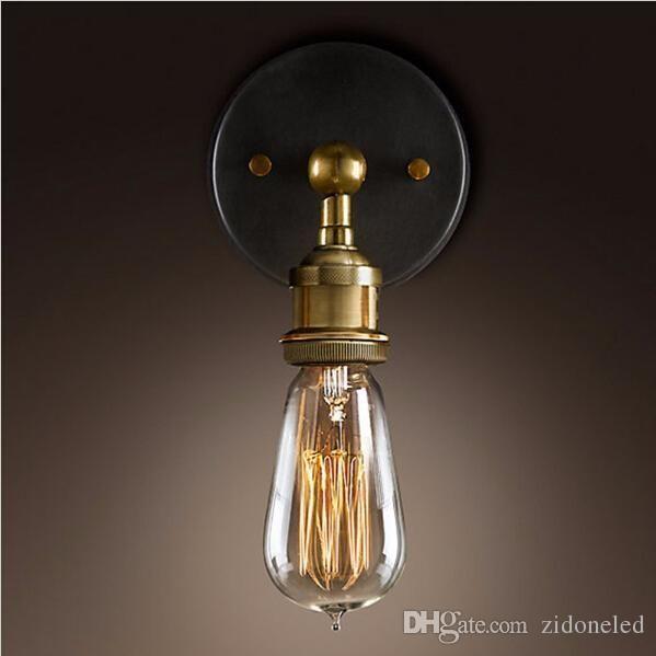 Vintage led appliques murales industrielle en métal rustique E27 edison lampe titulaire appliques murales luminaires décor