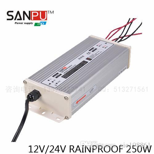 Con uscita CE 20,8 A, alimentazione interruttore 12V / 24V 250W, alimentazione LED a prova di pioggia, 110-220V, utilizzo per strisce led., SANPU