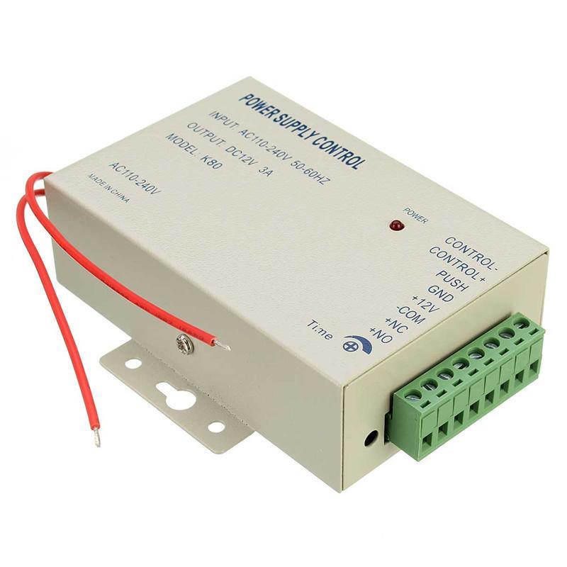 Hohe Qualität Kleines Licht AC 110 ~ 240V 50-60HZ zu DC12v 3A 36w Energieversorgungssteuerung für Türzutrittskontrollsystem verwenden