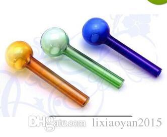 Accessoires de narguilé A1 CWholesale - Pot en verre couleur droite 10cm