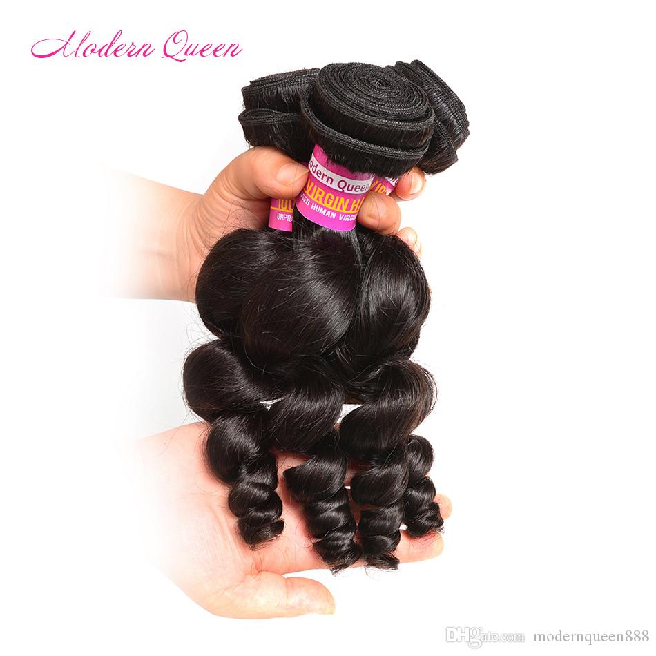 Brazilian Loose Curl 4 Bundles Very Cheap Human Hair Extensions