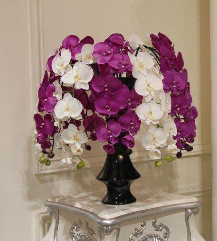(6 teile / los) Natürliche Phalaenopsis Silk Blume Künstliche Nachtfalter Gefälschte Orchideen Hochzeit Dekoration 6 Farben Erhältlich