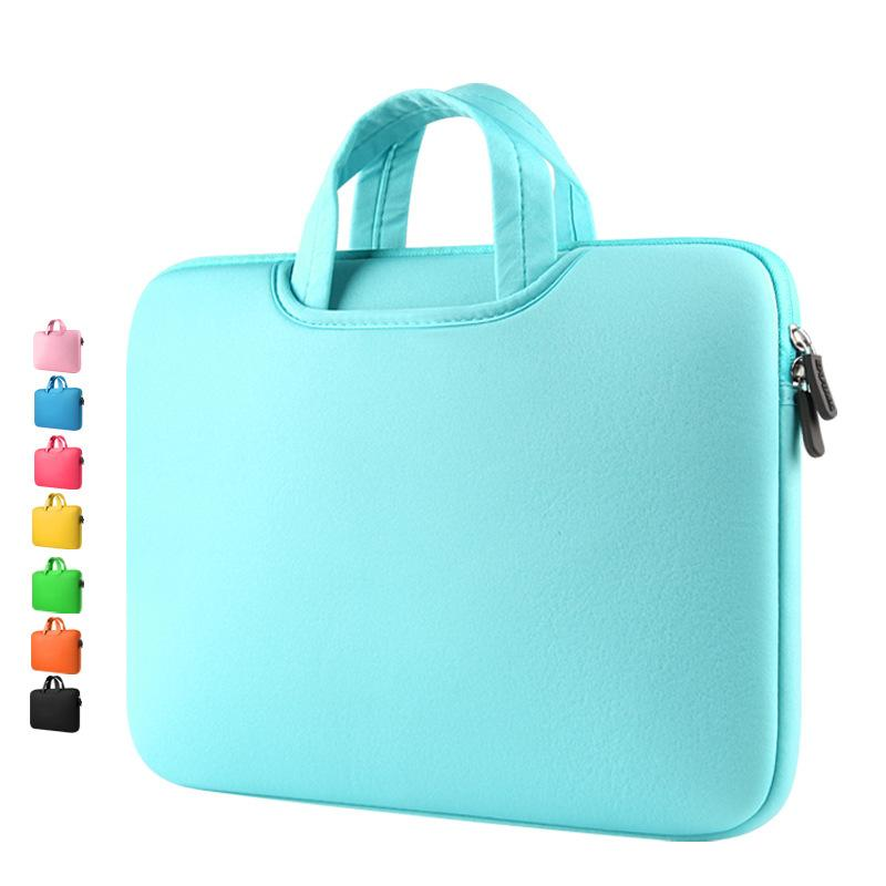 Laptop Handbags Sleeve Case Sponge Breathing Material Computer Laptops Bag Solid Notebook Tablet Bags 11 13 15 15.6 inch Size