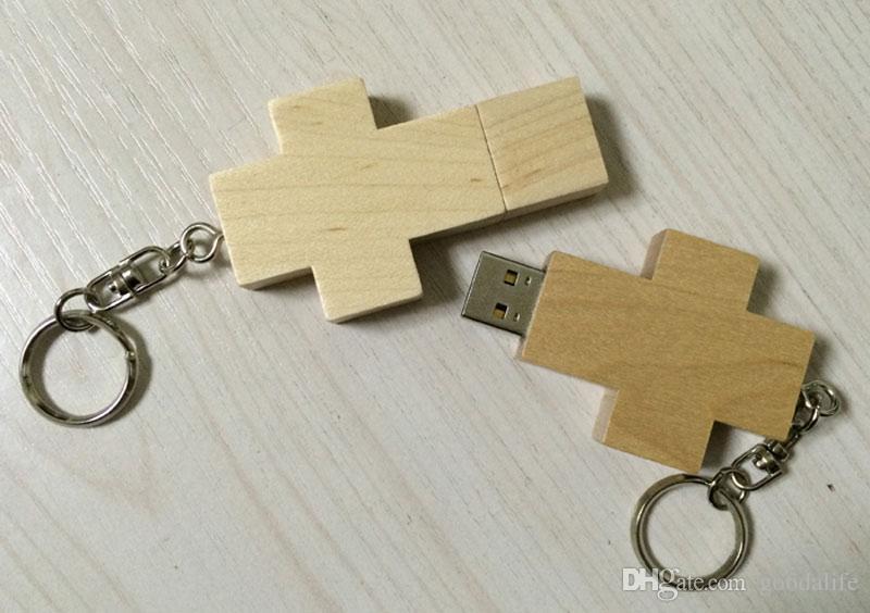 10 Piece 16GB 32GB Wood USB Drives Capacity Enough U Disk USB3.0 Environmental protection Wood USB Flash Drives