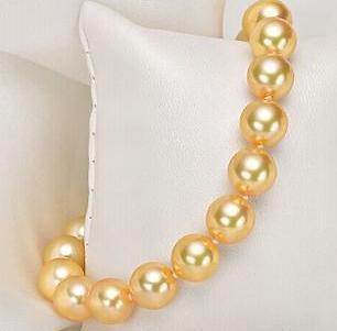 Braccialetto in oro 10-11mm rotondo con perle di mare del sud, oro 7,5 carati, 14 carati