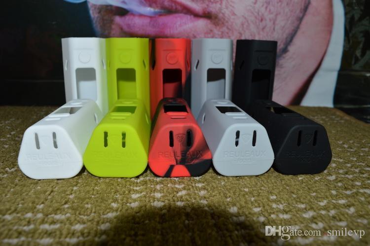 En iyi satmak 10 renkler RX23 silikon Kılıf 2 adet / kiti RX23 kapak Cilt Toptan WISMEC Reuleaux RX23 Mod Için Silikon kapak