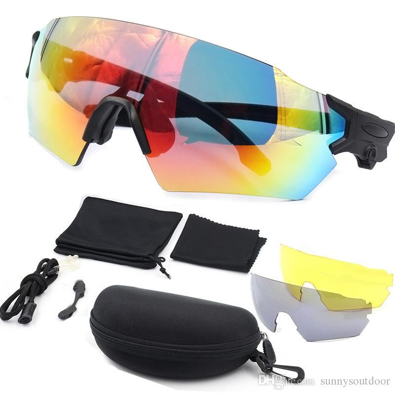 Gafas de sol deportivas al aire libre Ciclismo Gafas tácticas Gafas de sol Moda Ciclismo Ciclismo Deportes Gafas con 3 lentes NO02-314