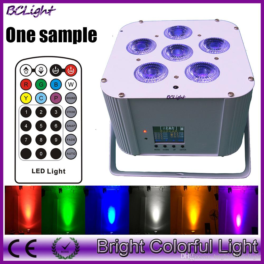 2015 Newest 6*18W RGBWA UV Wireless dmx led par lights/battery powered led wireless IR control uplights
