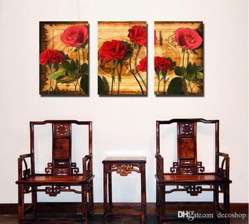 현대 아름 다운 꽃 괜 찮 아 요 꽃 그림 캔버스에 Giclee 인쇄 홈 장식 벽 예술 Set30297