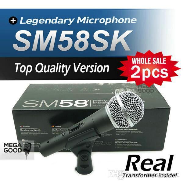 Microfono 2 adet Üst Kalite Sürümü SM 58 58 S SM58S Vokal Karaoke El Dinamik Kablolu Mikrofon Gerçek Trafo İçinde ücretsiz mikrafon