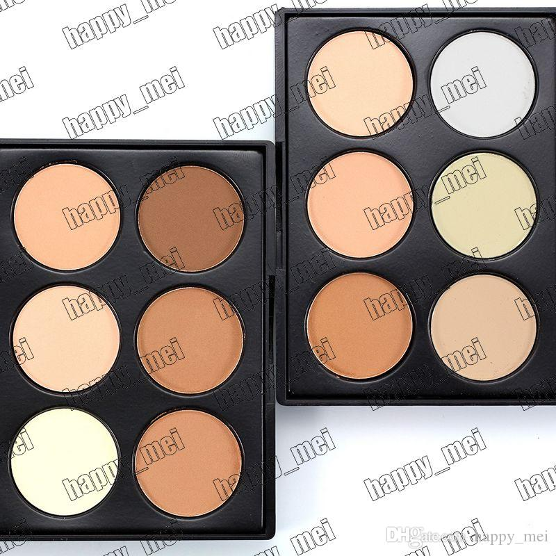 Factory Direct DHL Free Shipping New Makeup Face Mini 6 Colors Powder Palette!2 Different Colors