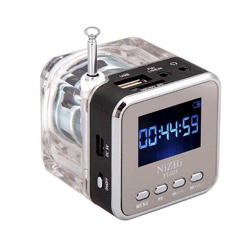 디지털 휴대용 미니 스피커 음악 MP3 / 4 플레이어 마이크로 SD / TF USB 디스크 스피커 FM 라디오 LCD 디스플레이